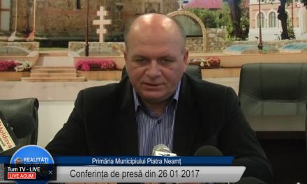 Conferintă de presă – Primaria Piatra Neamț – 26 01 2017