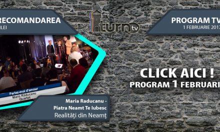 Program TV 1 februarie 2017 si Recomandarea zilei
