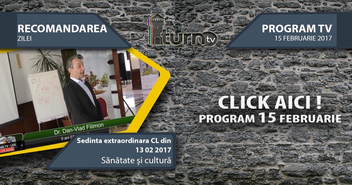 Program TV 15 februarie 2017 si Recomandarea zilei