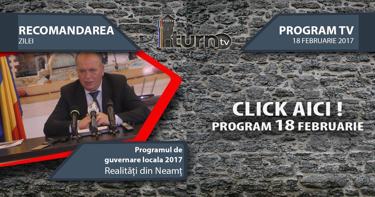 Program TV 18 februarie 2017 si Recomandarea zilei