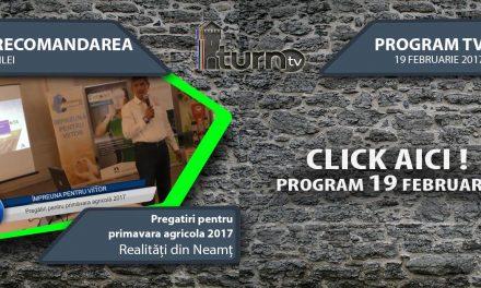 Program TV 19 februarie 2017 si Recomandarea zilei