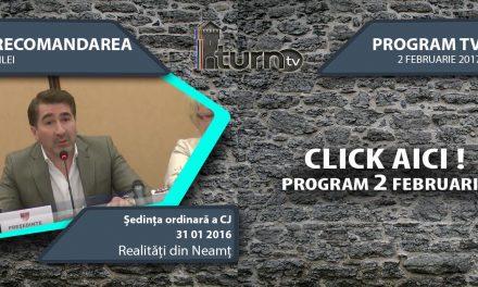 Program TV 2 februarie 2017 si Recomandarea zilei
