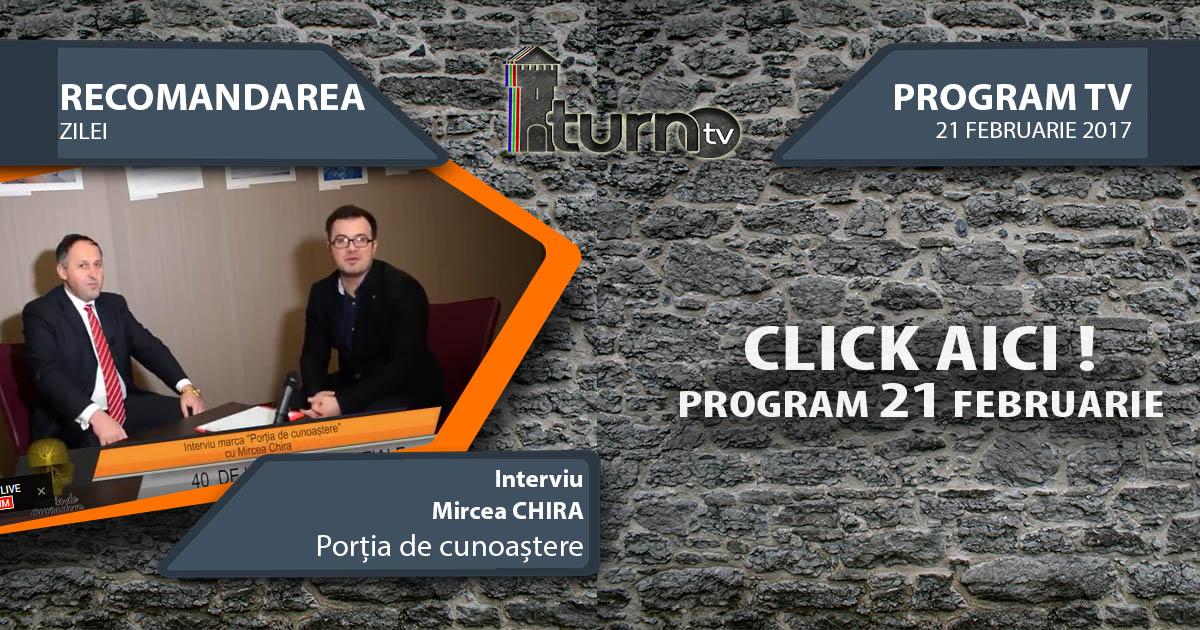 Program TV 21 februarie 2017 si Recomandarea zilei