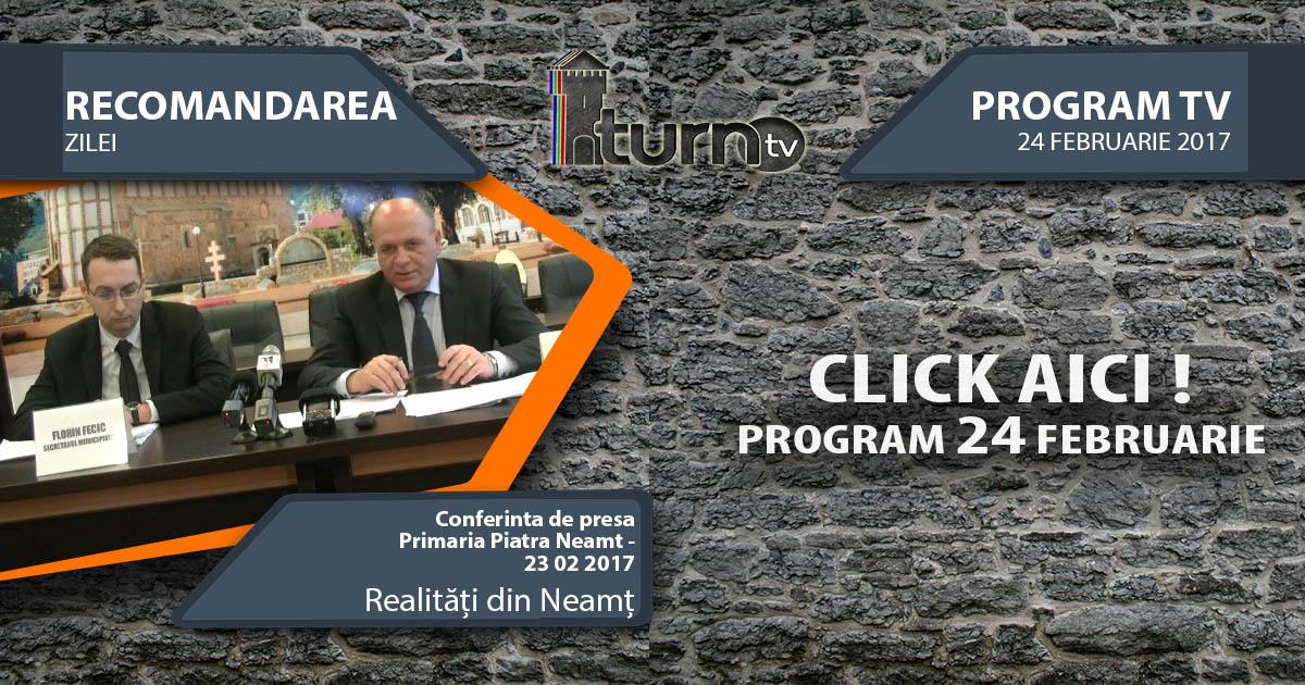 Program TV 24 februarie 2017 si Recomandarea zilei