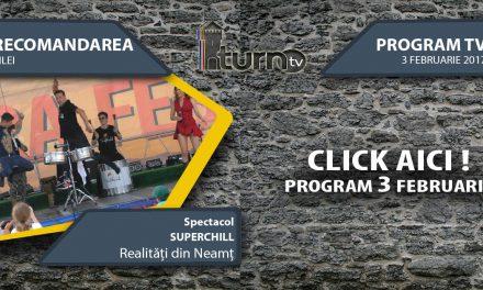 Program TV 3 februarie 2017 si Recomandarea zilei