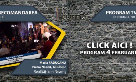 Program TV 4 februarie 2017 si Recomandarea zilei