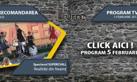 Program TV 5 februarie 2017 si Recomandarea zilei