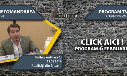 Program TV 6 februarie 2017 si Recomandarea zilei