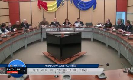 Sedinta comitetului pentru situatii de urgenta din 21 02 2017