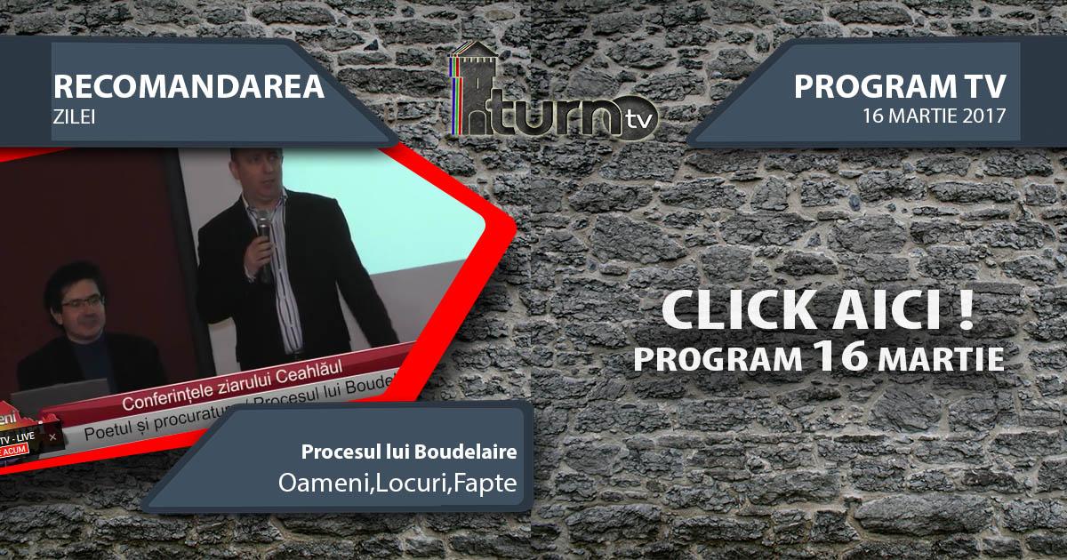 Program TV 16 martie 2017 si Recomandarea zilei