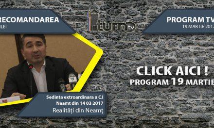 Program TV 19 martie 2017 si Recomandarea zilei