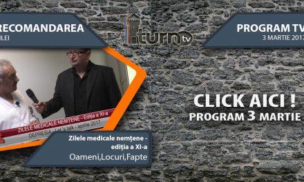 Program TV 3 martie 2017 si Recomandarea zilei