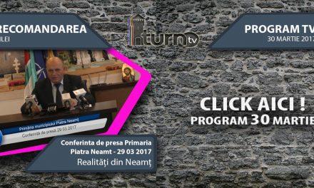 Program TV 30 martie 2017 si Recomandarea zilei