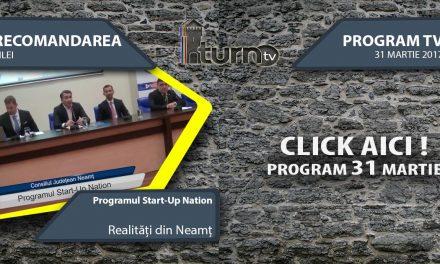 Program TV 31 martie 2017 si Recomandarea zilei