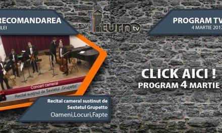 Program TV 4 martie 2017 si Recomandarea zilei