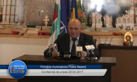 Conferință de presă Primaria Piatra Neamț 29 03 2017