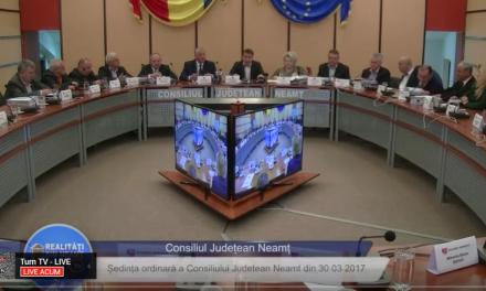 Sedinta Consiliului Judetean Neamt din 30 03 2017