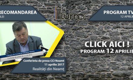 Program TV 12 aprilie 2017 si Recomandarea zilei