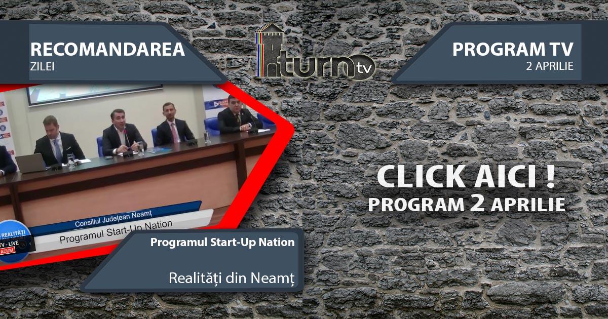 Program TV 2 aprilie 2017 si Recomandarea zilei