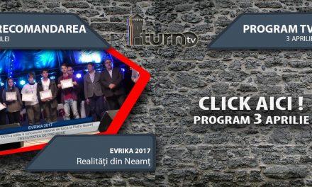 Program TV 3 aprilie 2017 si Recomandarea zilei