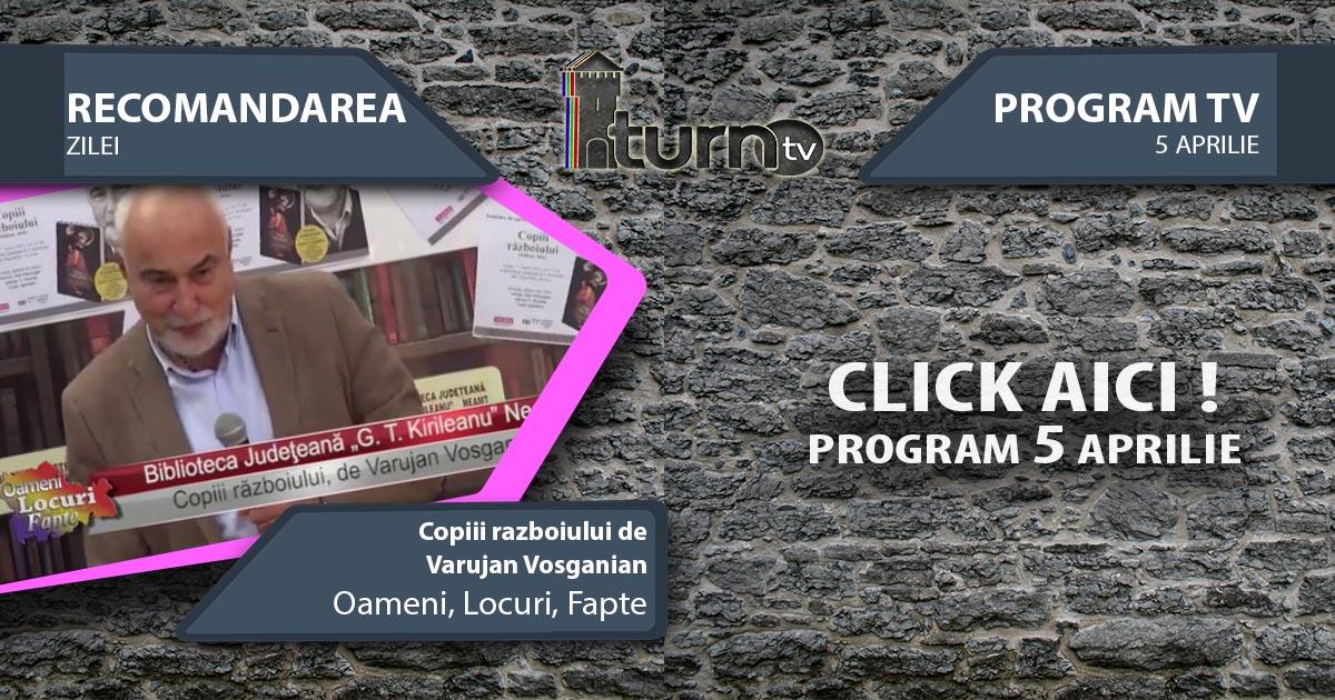 Program TV 5 aprilie 2017 si Recomandarea zilei