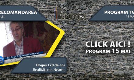 Program TV 15 mai 2017 si Recomandarea zilei