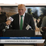Conferinta de presă Primaria Piatra Neamţ 25 05 2017