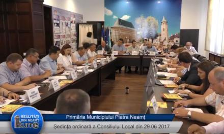 Ședința Consiliul Local Piatra Neamt din 29 06 2017