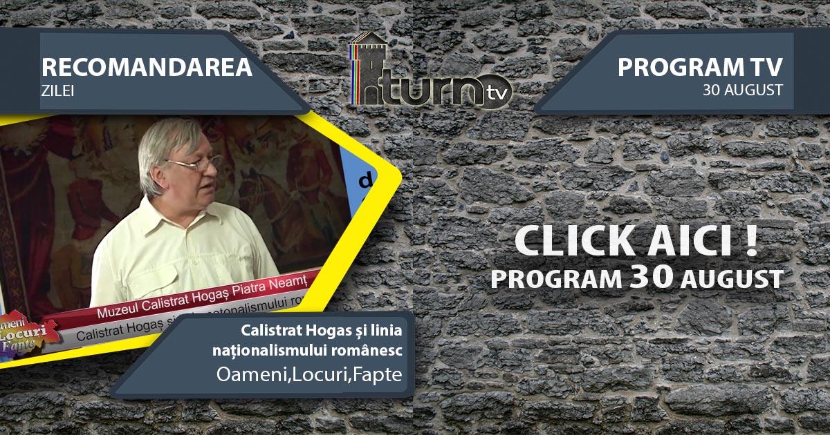 Program TV 30 August 2017 si Recomandarea zilei