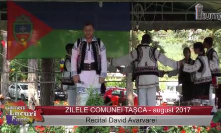Zilele comunei Tașca – Recital David Avarvarei
