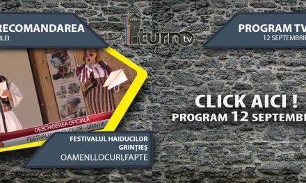 Program TV 12 Septembrie 2017 si Recomandarea zilei