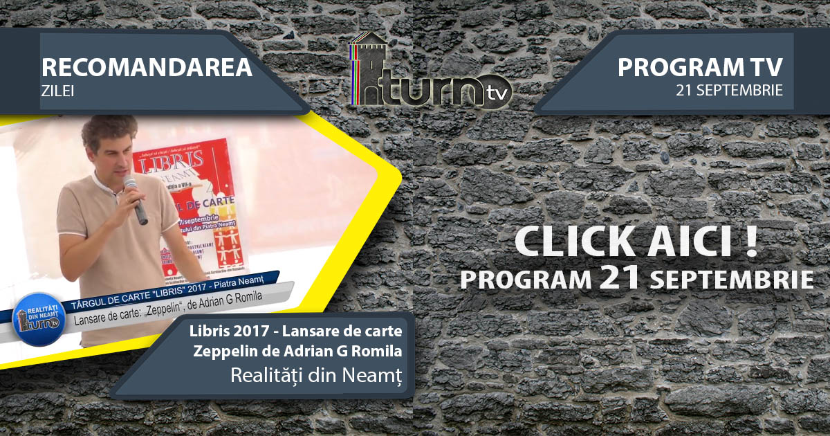 Program TV 21 Septembrie 2017 si Recomandarea zilei