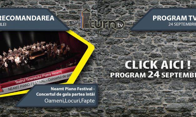 Program TV 24 Septembrie 2017 si Recomandarea zilei