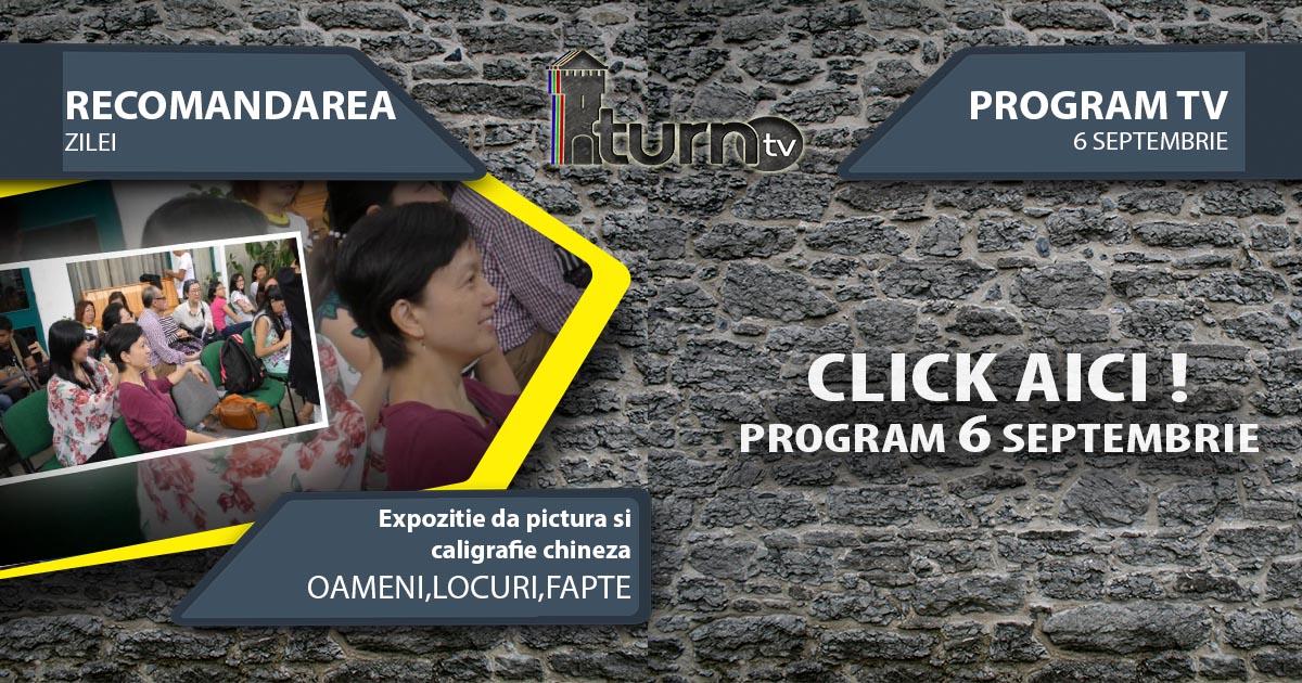 Program TV 6 Septembrie 2017 si Recomandarea zilei