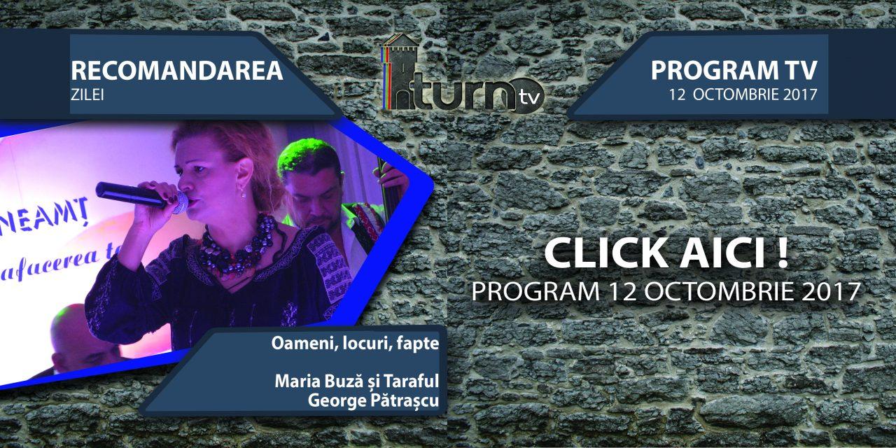 Program TV 12 Octombrie 2017 si Recomandarea zilei