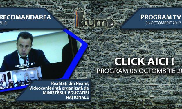 Program TV 6 Octombrie 2017 si Recomandarea zilei