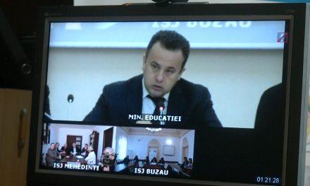Videoconferința organizată de Ministerul Educației Naționale