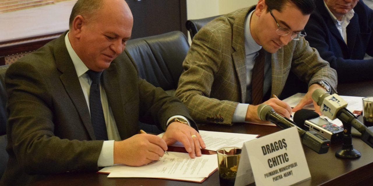 Primarul Dragoș Chitic și Președintele FRF – Răzvan Burleanu