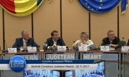 Ședința ordinară a Consiliului Județean Neamț din 29 11 2017
