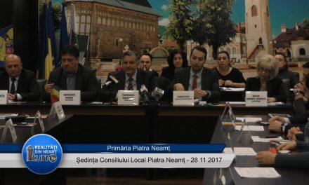Ședința Consiliului Local Piatra Neamț – 28.11. 2017