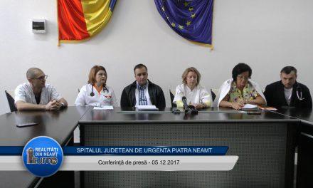 Spitalul Județean de Urgență Piatra Neamt – Conferință de presă