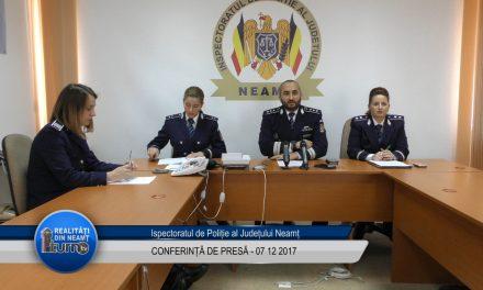 Conferință de presă – IPJ Neamț 07.11.2017