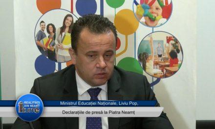 Declarații de presă – Ministrul Educației Naționale ,Liviu Pop