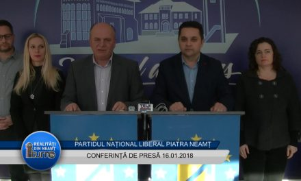 Conferință de presă PNL Piatra Neamț 16. 01.2018