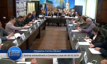 Ședința extraordinară a Consiliului Local Piatra Neamț din 06 02 2018