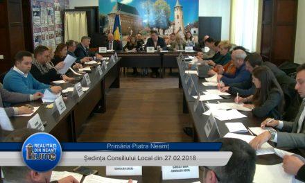 Ședința Consiliului Local Piatra Neamț – 27. 02. 2018