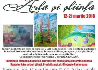 Afis Expozitie Arta si stiinta 2