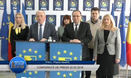 Conferintă de presă PNL Piatra Neamț – 02. 03. 2018