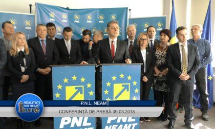 Conferința de presă  organizată de PNL Neamț 09.03.2018