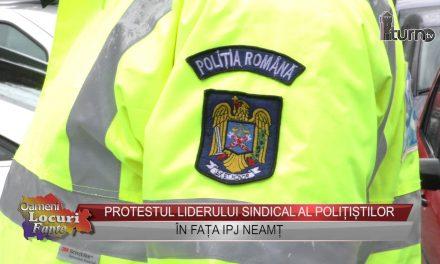 Protestul din fata IPJ Neamt